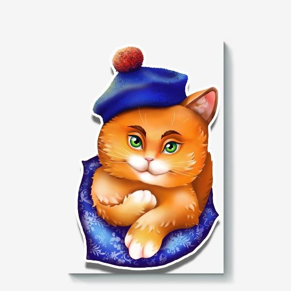 Холст «кот»