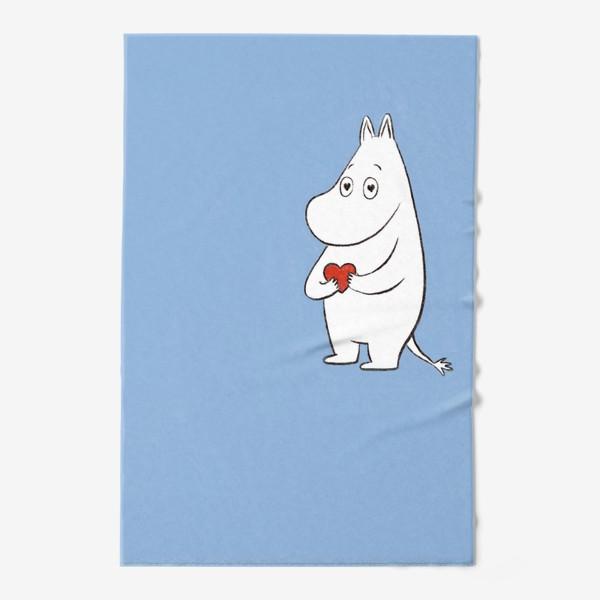 Полотенце «Муми-тролль любовь сердце 8 марта»