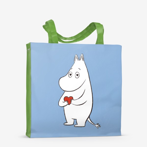 Сумка-шоппер «Муми-тролль любовь сердце 8 марта»