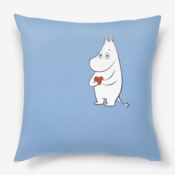 Подушка «Муми-тролль любовь сердце 8 марта»