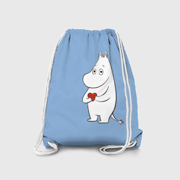 Рюкзак «Муми-тролль любовь сердце 8 марта»