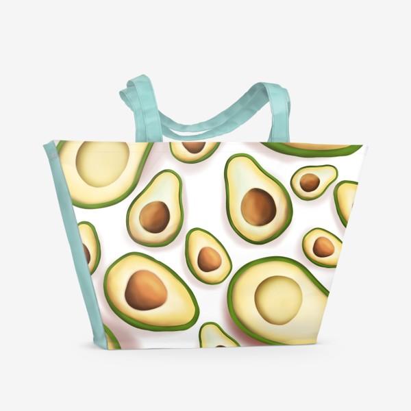 Пляжная сумка «Авокадо»