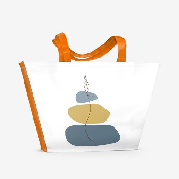 Пляжная сумка «Пятна и росток»