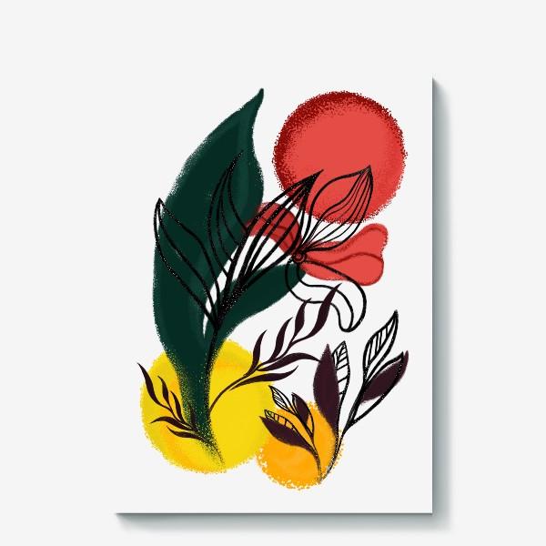 Холст «Абстракция. Линии и цвет.»