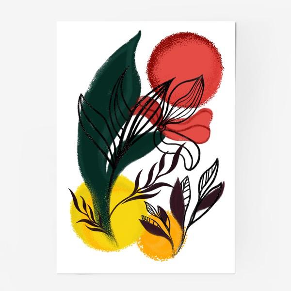Постер «Абстракция. Линии и цвет.»