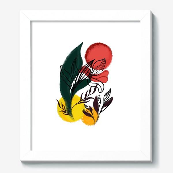 Картина «Абстракция. Линии и цвет.»