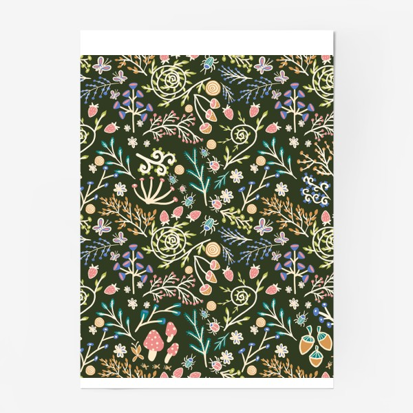 Постер «Жуки, грибы, растения»