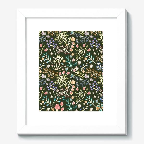 Картина «Жуки, грибы, растения»
