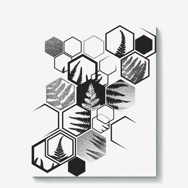 Холст «Hexagonal Fern»