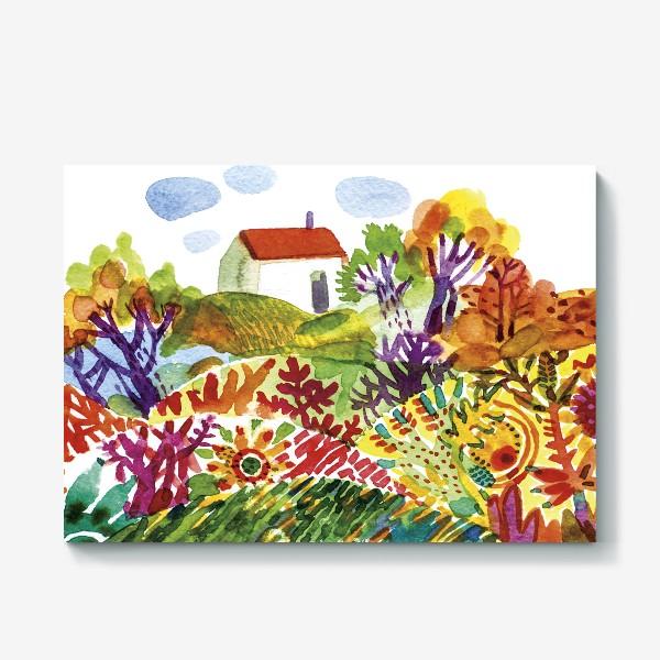 Холст «Летний сад»