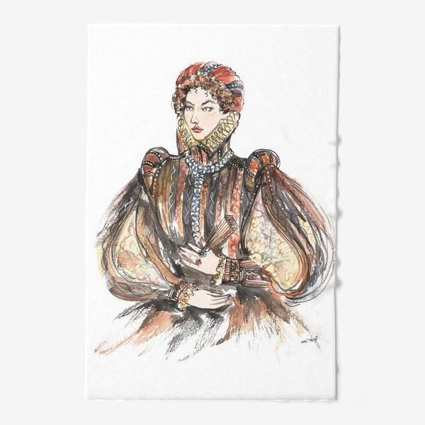 Полотенце «Красивая девушка в историческом костюме»