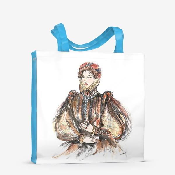 Сумка-шоппер «Красивая девушка в историческом костюме»