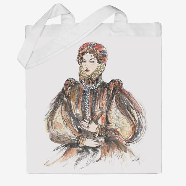 Сумка хб «Красивая девушка в историческом костюме»
