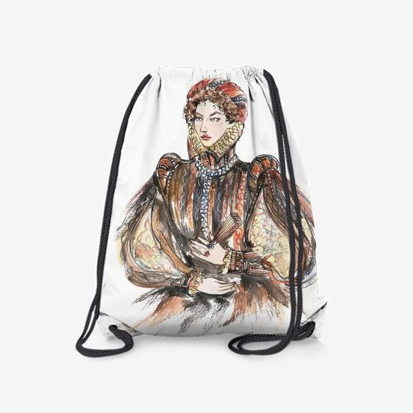 Рюкзак «Красивая девушка в историческом костюме»