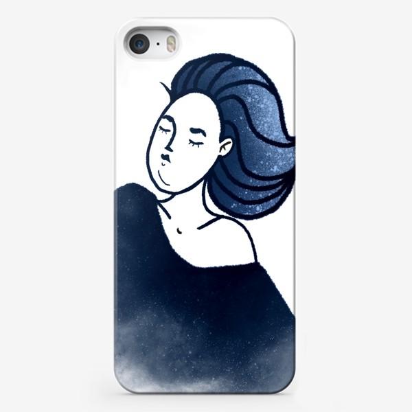 Чехол iPhone «Звёзды ночь синее женщина»