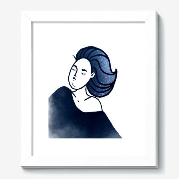 Картина «Звёзды ночь синее женщина»