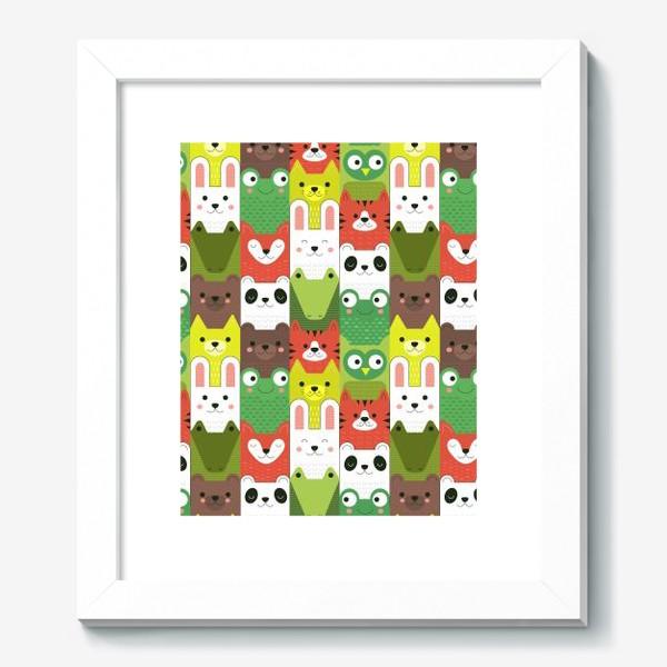 Картина «Детский  зоо принт - геометричные звери»