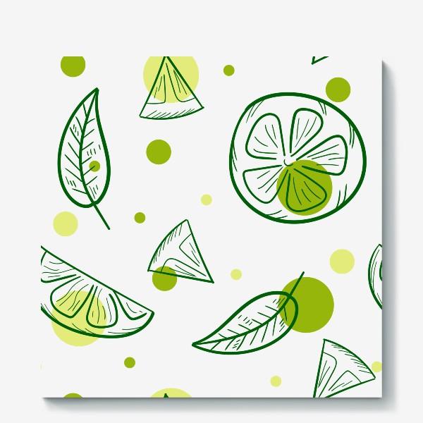 Холст «Зеленый чай с бергамотом»