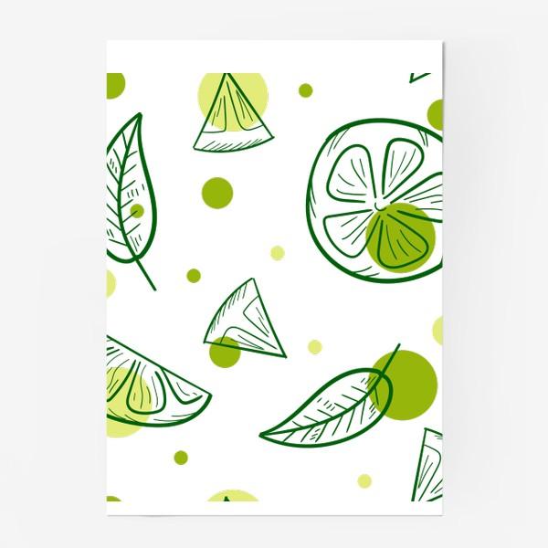 Постер «Зеленый чай с бергамотом»