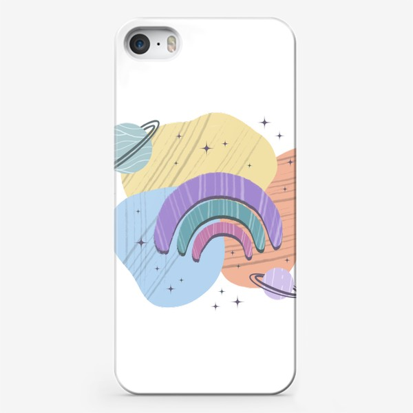 Чехол iPhone «Абстрактные пятна (космос, радуга)»