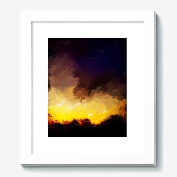 """Картина «""""восход в лесу""""»"""