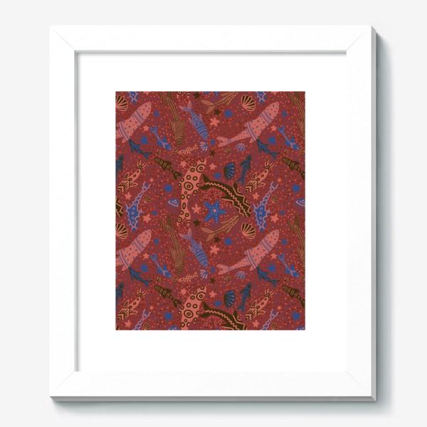 Картина «Море рыбы на красном »