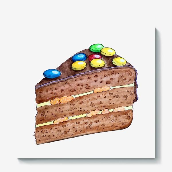 Холст «Тортик с M&M's»