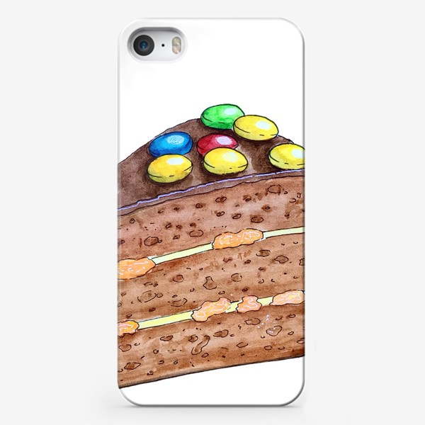Чехол iPhone «Тортик с M&M's»