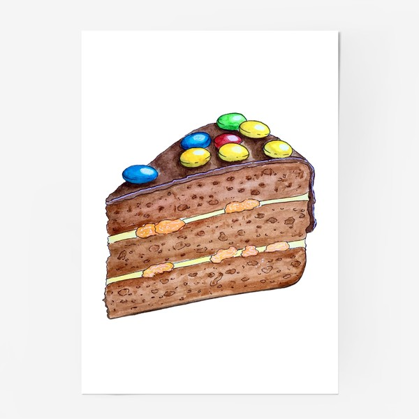 Постер «Тортик с M&M's»