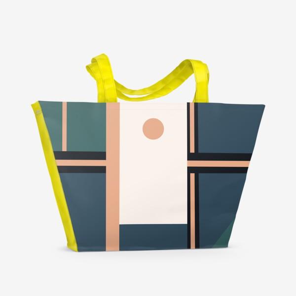 Пляжная сумка «Абстрактный принт»