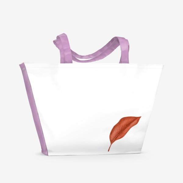 Пляжная сумка «Тропики лист»