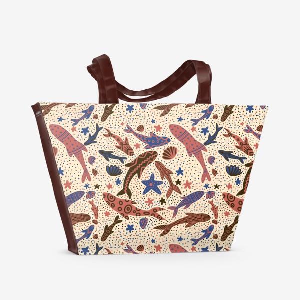 Пляжная сумка «Этника рыбы»