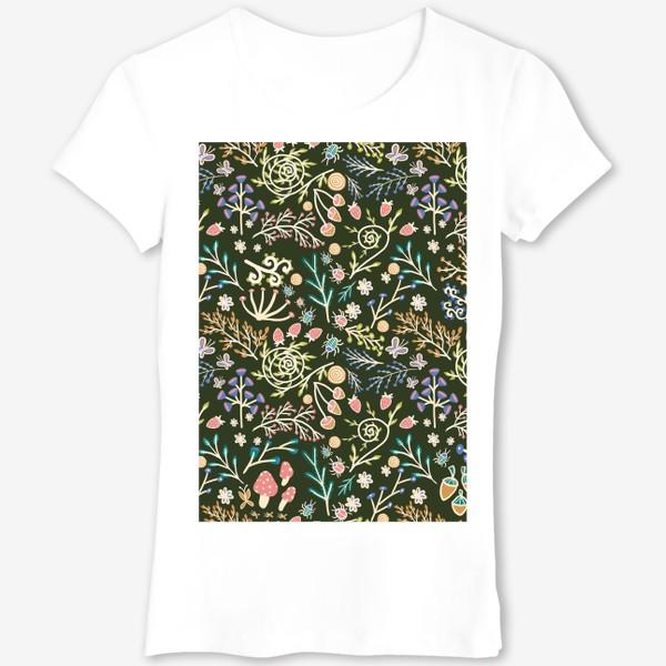 Футболка «Жуки, грибы, растения»