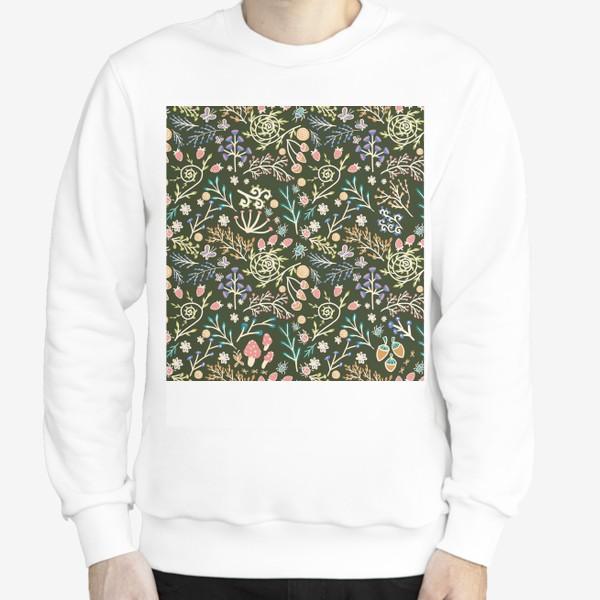 Свитшот «Жуки, грибы, растения»