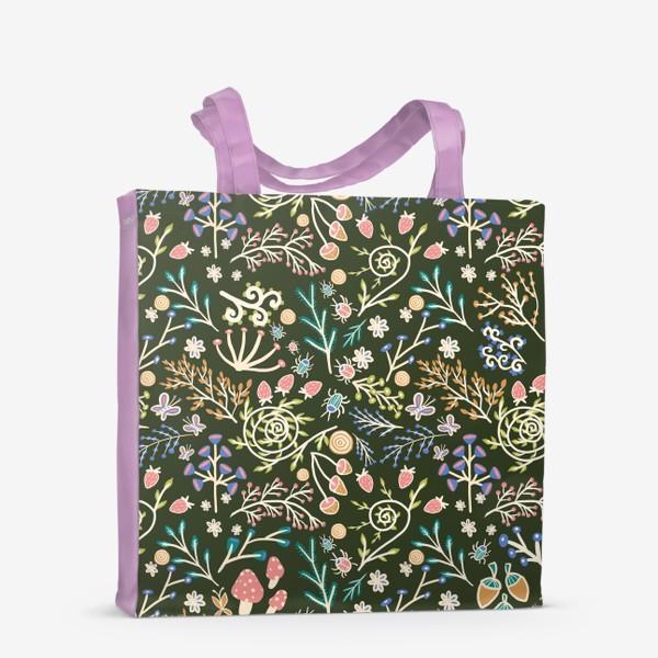 Сумка-шоппер «Жуки, грибы, растения»