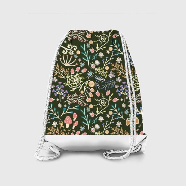 Рюкзак «Жуки, грибы, растения»