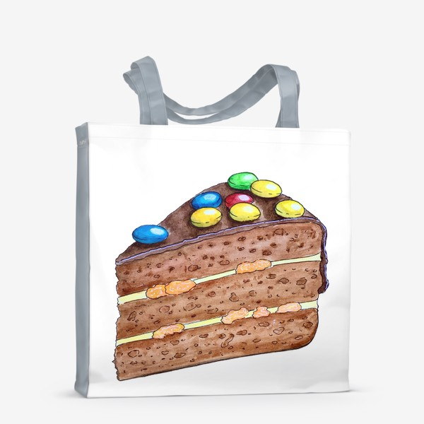 Сумка-шоппер «Тортик с M&M's»