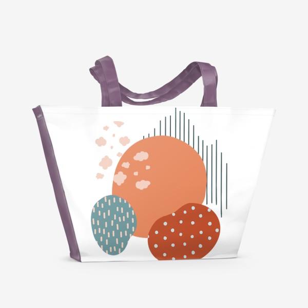 Пляжная сумка «Абстрактные пятна»