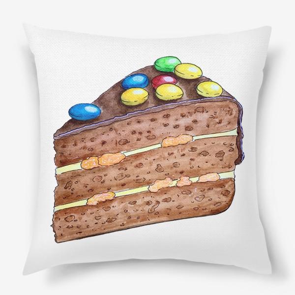 Подушка «Тортик с M&M's»