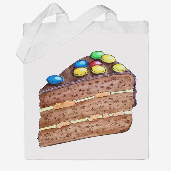 Сумка хб «Тортик с M&M's»