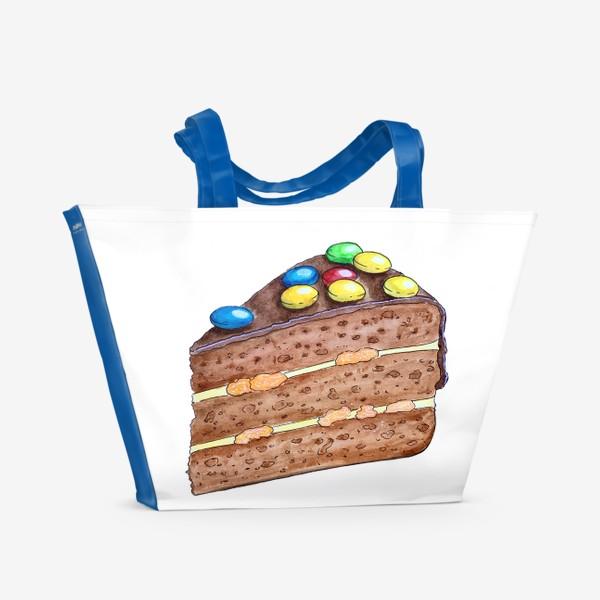 Пляжная сумка «Тортик с M&M's»
