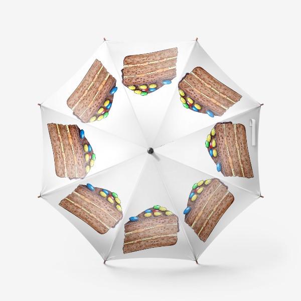 Зонт «Тортик с M&M's»
