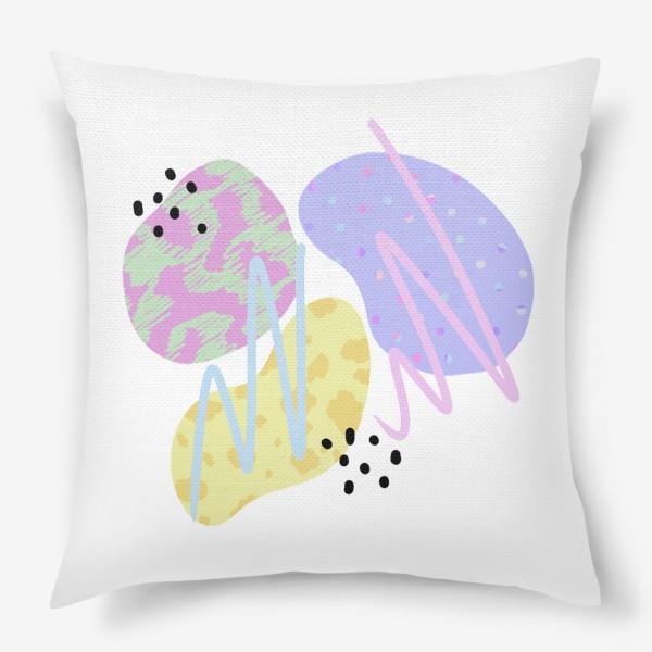 Подушка «Абстрактные пятна »