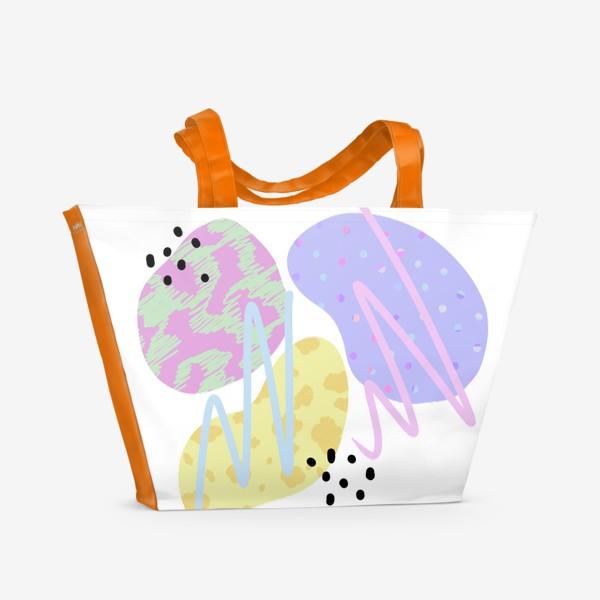 Пляжная сумка «Абстрактные пятна »