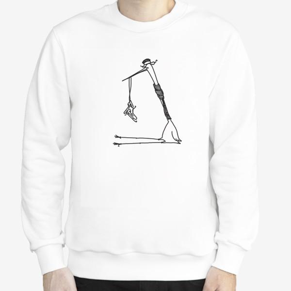 Свитшот «Птица с коньками. Ждет зимы»