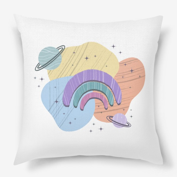 Подушка «Абстрактные пятна (космос, радуга)»