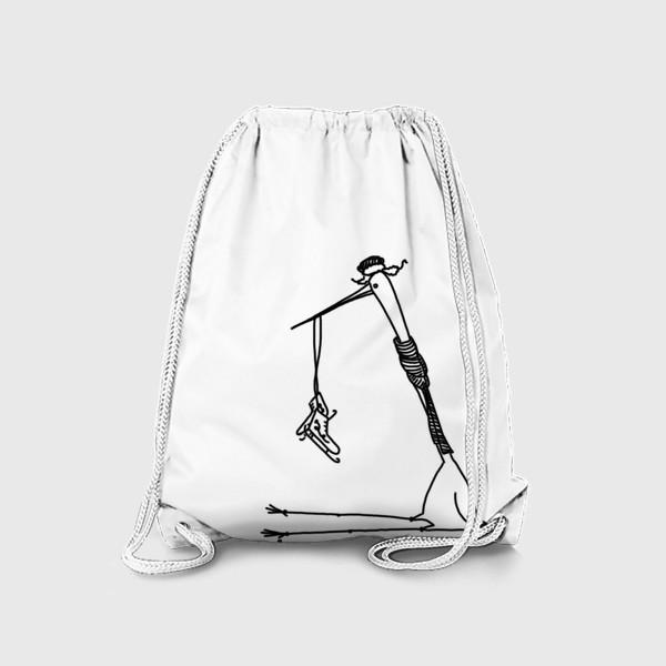 Рюкзак «Птица с коньками. Ждет зимы»