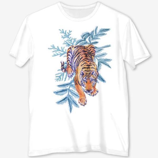 Футболка с полной запечаткой «Тигр»
