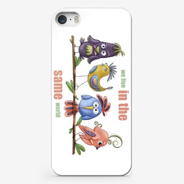 Чехол iPhone «Веселые птички»