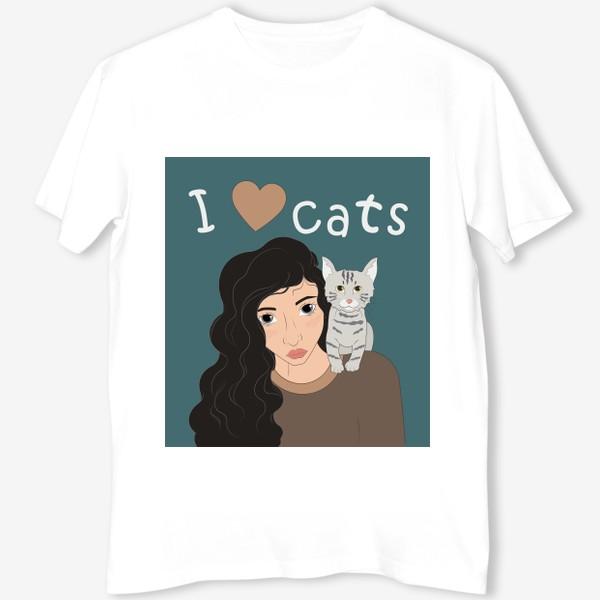Футболка «I love cats»